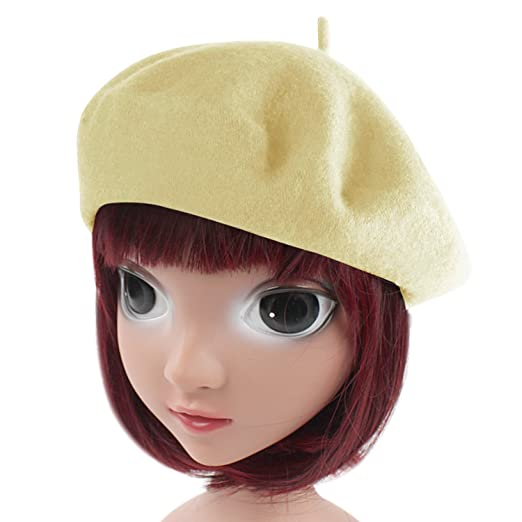 HowYouth Children Kids Girls Boys French Style Classic Solid Color Art Wool  Beret Hat Beanie Cap fee71d42a9ee