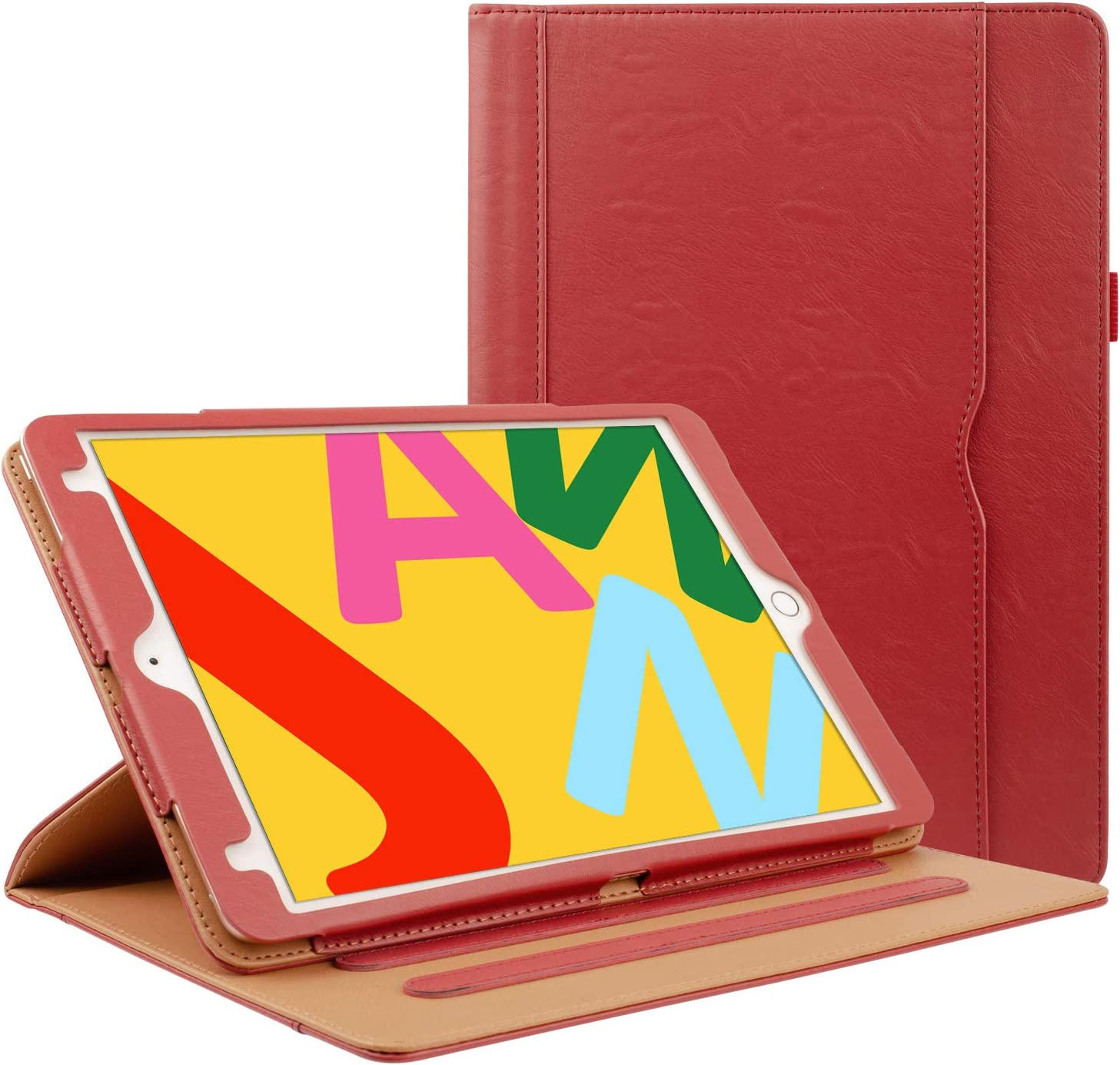 Grifobes Rotating Case for iPad 8th Generation / iPad 7th Generation,360 Degree Rotating Stand Smart Protective Case with Auto Wake/Sleep for iPad 10.2 inch 2020/2019,Red