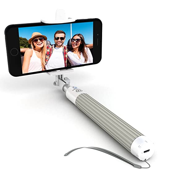 pretty nice 58a4a 3a8b4 Premium 5-in-1 Bluetooth Selfie Stick for iPhone XR XS X 8 7 6 5, Samsung  Galaxy S10 S9 S8 S7 S6 S5 & Most Androids - Takes Perfect HD Photos in ...