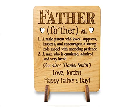Amazon definition of the perfect dad personalized fathers day definition of the perfect dad personalized fathers day card alder wood birthday gift for 50th 40th stopboris Images