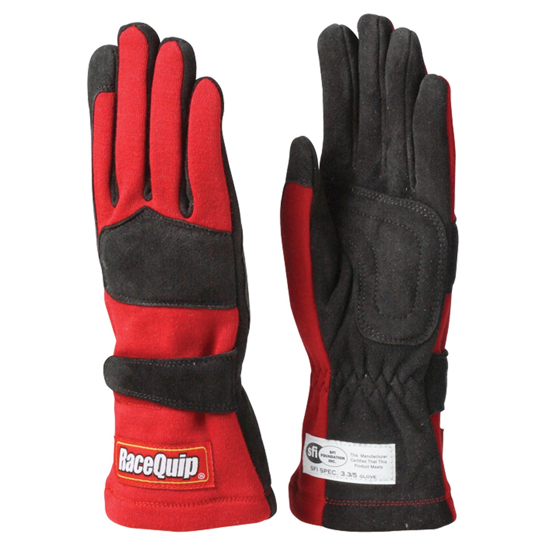 RaceQuip 355023 355 Series Medium Blue SFI 3.3//5 Two Layer Racing Gloves