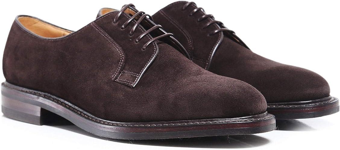 Suede Derby Shoes Dark Brown