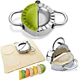 BellaBetty Dumpling Maker - Dumpling Press/Stainless Steel Empanada Press/Pie Ravioli Dumpling Wrappers Mold Kitchen…