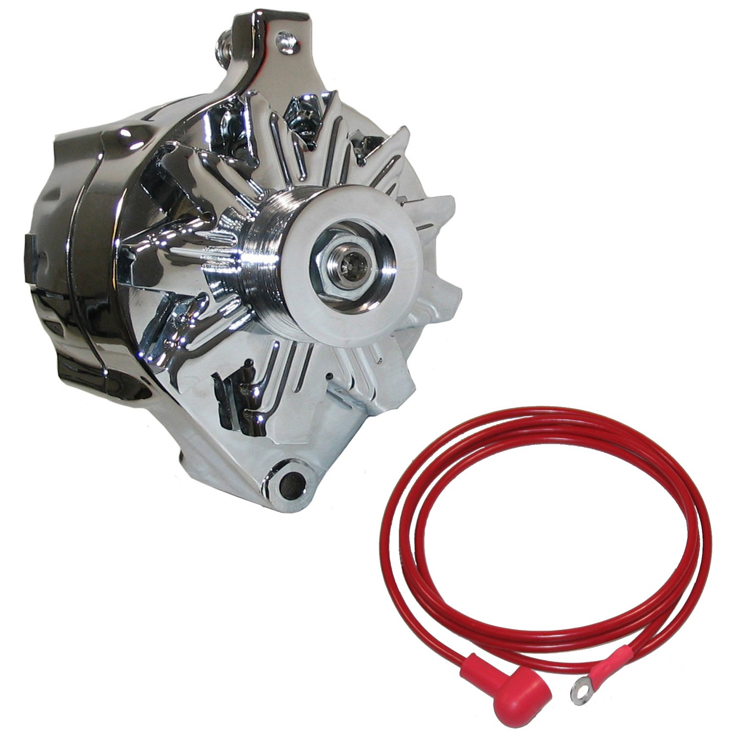New Powermaster Chrome Alternator Serpentine Pulley One Wire Diagram 140 Amp Ford Lincoln Mecury Automotive