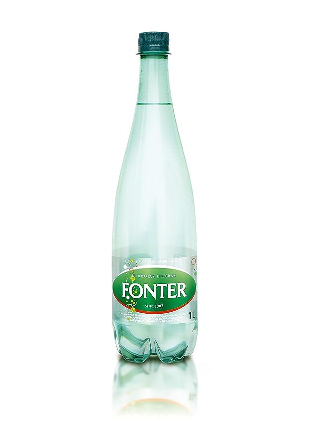 Fonter - Agua Mineral Natural Con gas Carbónico Añadido 1 L: Amazon.es: Alimentación y bebidas