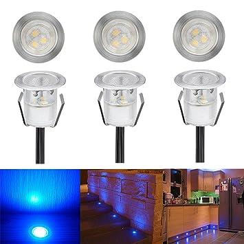 LED Einbaustrahler, 6er Set LED Bodeneinbauleuchte Ø30mm 0.6W ...
