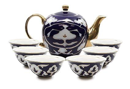 Royalty Porcelain 7-pc Mini Tea Cup Set Cups and Teapot Vintage Cobalt  sc 1 st  Amazon.com & Amazon.com | Royalty Porcelain 7-pc Mini Tea Cup Set Cups and ...