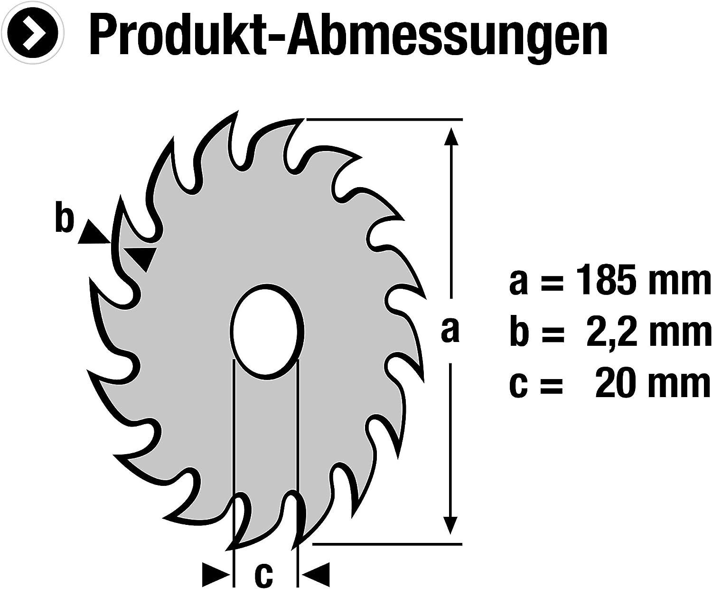 24 Zähne 5905670 Meister Sägeblatt Ø 185 x Ø 20 x 2,2 mm