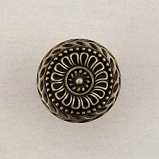 product image for Acorn Manufacturing DQFAP Artisan Collection Lace Circle Knob44; Antique Brass