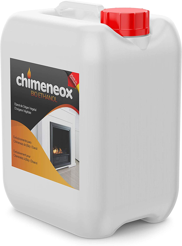 Chimeneox - 5L Bioetanol 96% para chimeneas - sin humo - alta combustión