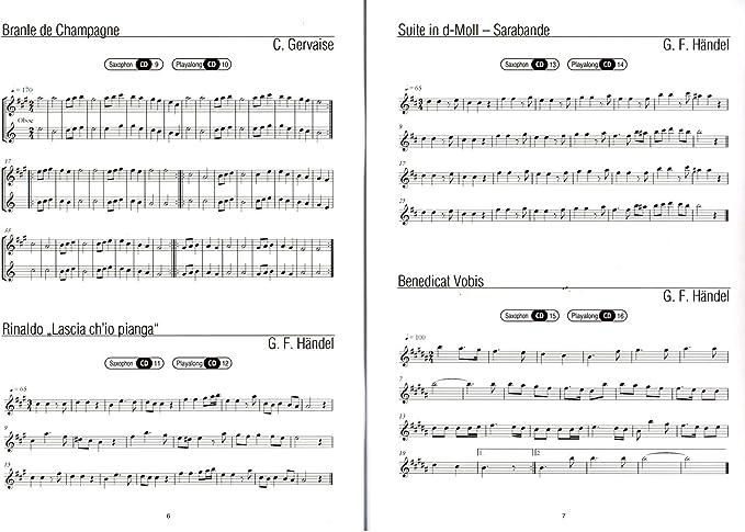 erlesene clásico de melodías para saxofón alto – Todos los grandes ...