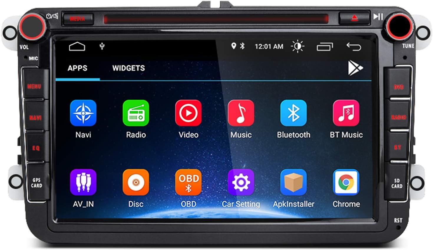 AWESAFE Android 10.0 [2GB+32GB] 8 Pulgadas Radio Coche con Pantalla 2 DIN para VW, Autoradio para VW con WiFi/GPS/Bluetooth/RDS/CD DVD/USB/FM Am/SD, ...