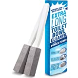 IMPRESA Pumice Stone Toilet Bowl Cleaner with Extra Long Handle, 2 Pack! - Limescale Remover - 100% Natural Pumice…
