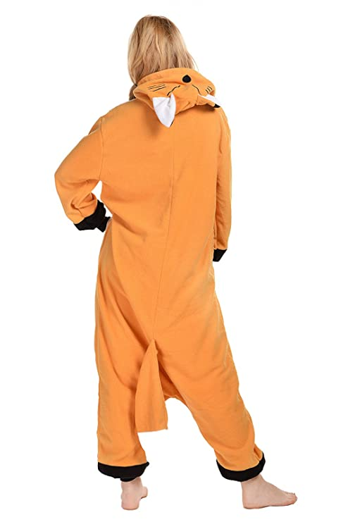 Amazon.com: CANASOUR Polar Fleece Fox Unisex Cosplay Anime Onesie Pyjamas: Clothing