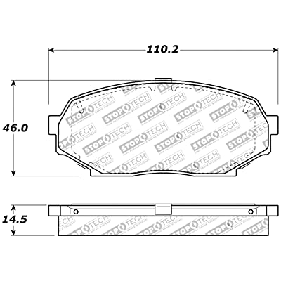 StopTech 309.05250 Street Performance Front Brake Pad: Automotive
