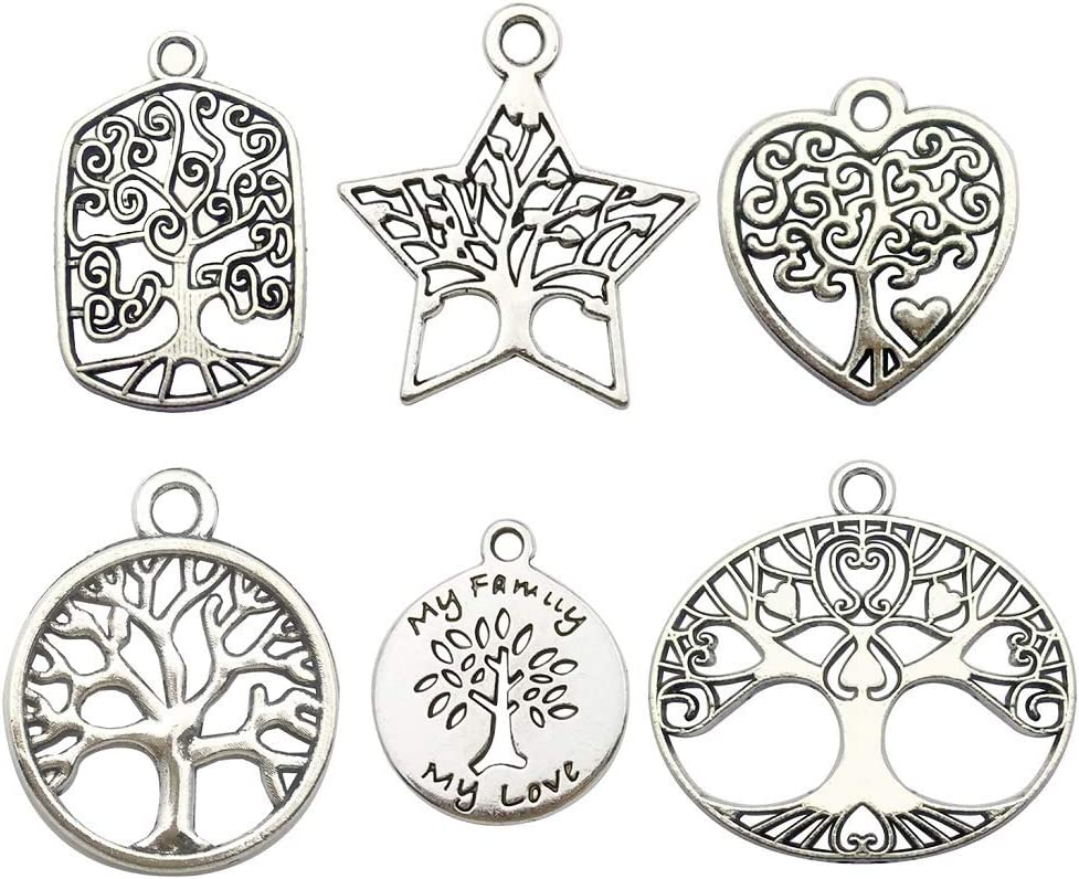 9 Tibetan Silver Love Heart Family Charms Pendants Jewellery Crafts Findings