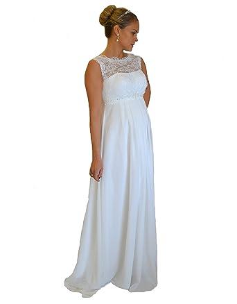 Brautkleid TRAUM Hochzeitskleid A-Linie Umstandskleid Weiß Ivory ...