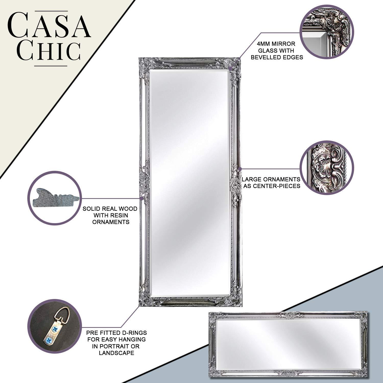 rococo by casa chic wei er shabby chic spiegel zum. Black Bedroom Furniture Sets. Home Design Ideas