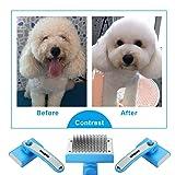 WINSEE Dog Grooming Brush, Self Cleaning Slicker