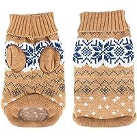Idepet Suéter para perros y mascotas,ropa de invierno cálida para perros y gatos,cómodo abrigo para mascotas,disfraz…