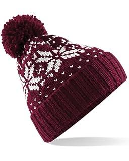 Mountain Warehouse Xmas Fairisle Mens Winter Beanie - Comfortable ... 4c7535c7312a