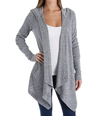 9af7d42fb Amazon.com  Splendid Women s Thermal Wrap Hooded Cardigan  Clothing