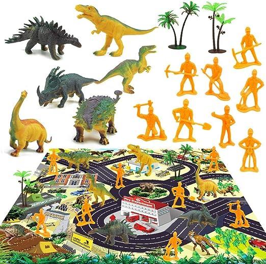 G-wukeer Simulación De Juguetes Modelo De Dinosaurio con Estera De Juego Juego De Juguetes Educativos De Dinosaurio para Niños, Los Juguetes De Dinosaurio Te Brindan Mucha Diversión: Amazon.es: Hogar
