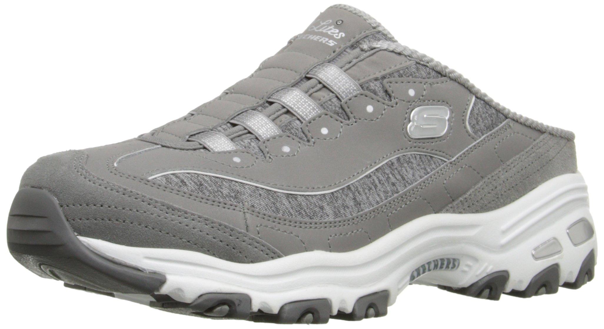 Skechers Sport Women's Resilient Fashion Sneaker, Gray/White, 9 M US