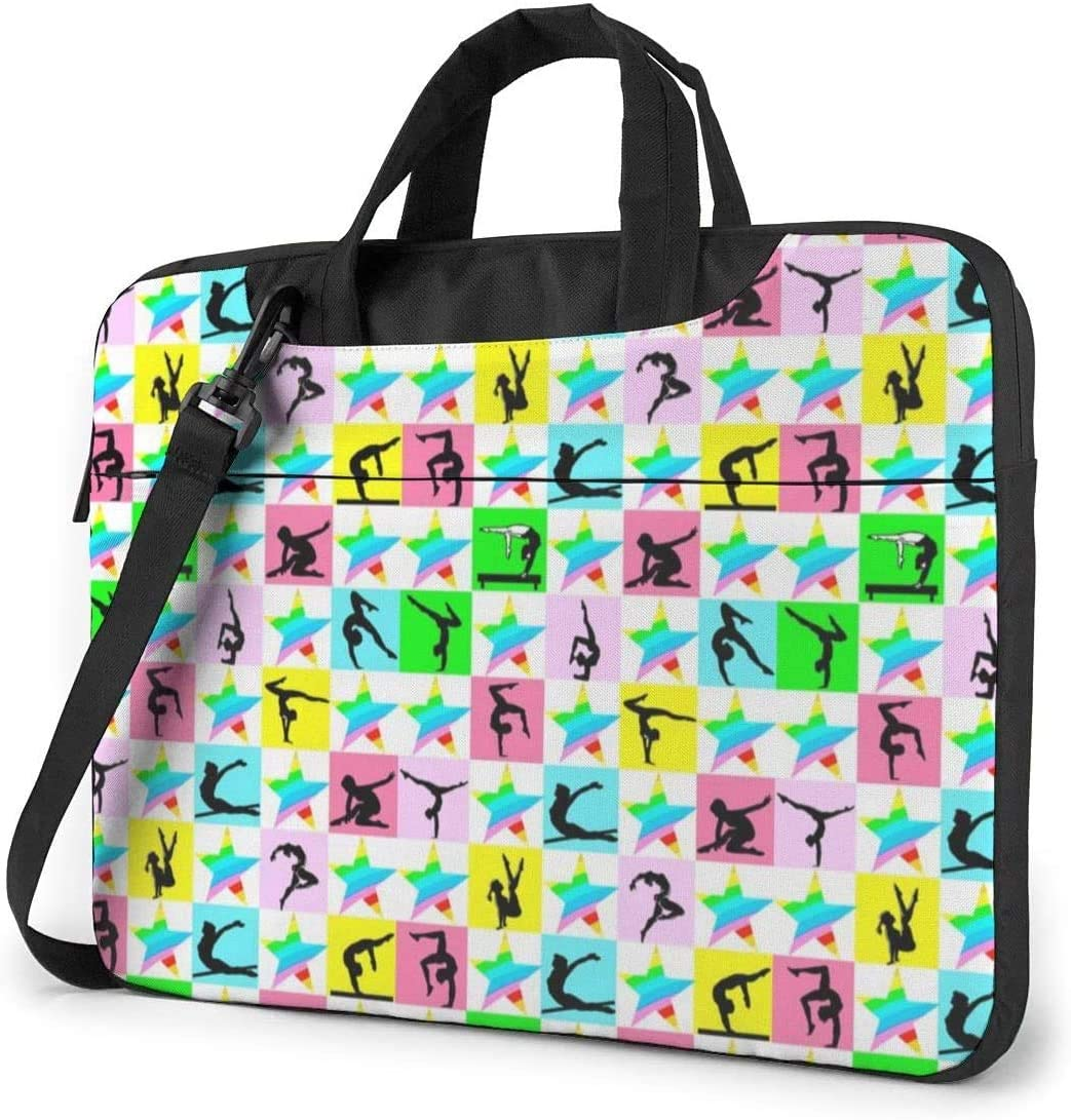Fierce Gymnast Shockproof Laptop Shoulder Messenger Bag Laptop Case Sleeve Laptop Briefcase Business Handbag