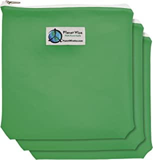 product image for Planet Wise 3-Pack Reusable Zipper Quart Bags - Green