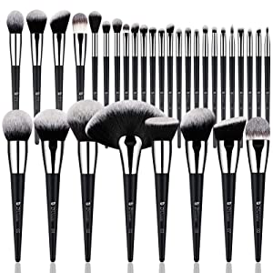 DUcare Makeup Brush Set 32Pcs Professional Makeup Brushes Christmas Gift Premium Synthetic Kabuki Foundation Blending Brush Face Powder Blush Concealers Eye Shadows