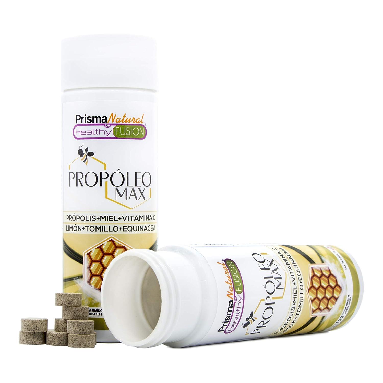 PROPOLIS - Propóleo masticable con Miel, Vitamina C y Tomillo - Protege y Aumenta las defensas y el sistema inmunológico - Propiedades antibacterianas y ...