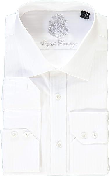 Amazon.com: Camisa de vestir de rayas blancas con diseño de ...