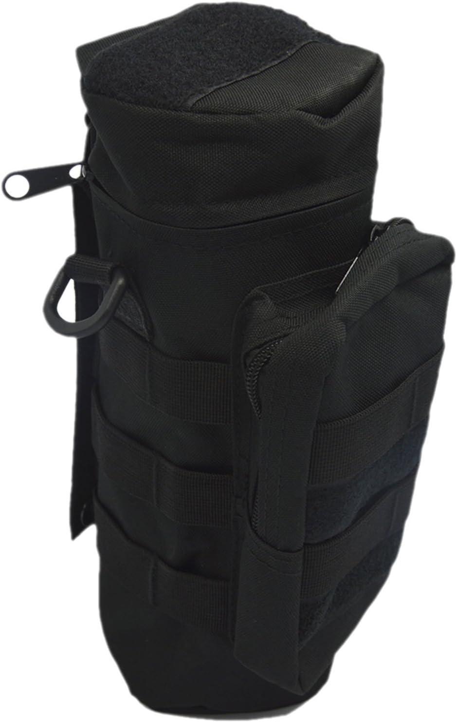 Deporte al aire libre engranaje táctico Nylon cremallera Molle Camo botella grande de agua caldera paquete del bolso con lío bolsa verde del ejército