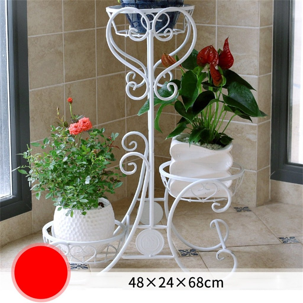 AIDELAI flower rack Pastoral Creative Metal Flower Racks Indoor And Outdoor Living Room Balcony Decoration Multiple Layers Flower Pot Rack Patio Garden Pergolas (Color : #3) by AIDELAI (Image #1)