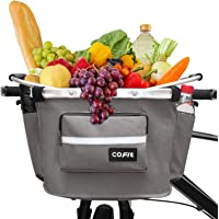 COFIT Collapsible Bike Basket, Multi-Purpose Detachable Bicycle Handlebar Basket for Pet Carrier, Grocery Shopping…