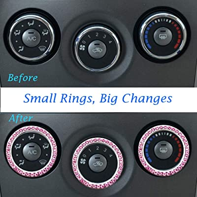 Ring Emblem Sticker for Auto Engine Start Stop Volume and Tune Knobs Car Interior Accessoriess Decoration 2.75 Inch Car Cup Holder Drink Coaster