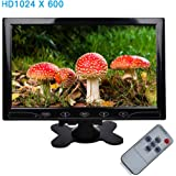 """TOGUARD 10.1"""" Inch Ultrathin Color Security CCTV Monitor 1024x600 Resolution Touch Buttons Video and Audio LED Display Screen with Remote Control AV/VGA/HDMI Input"""