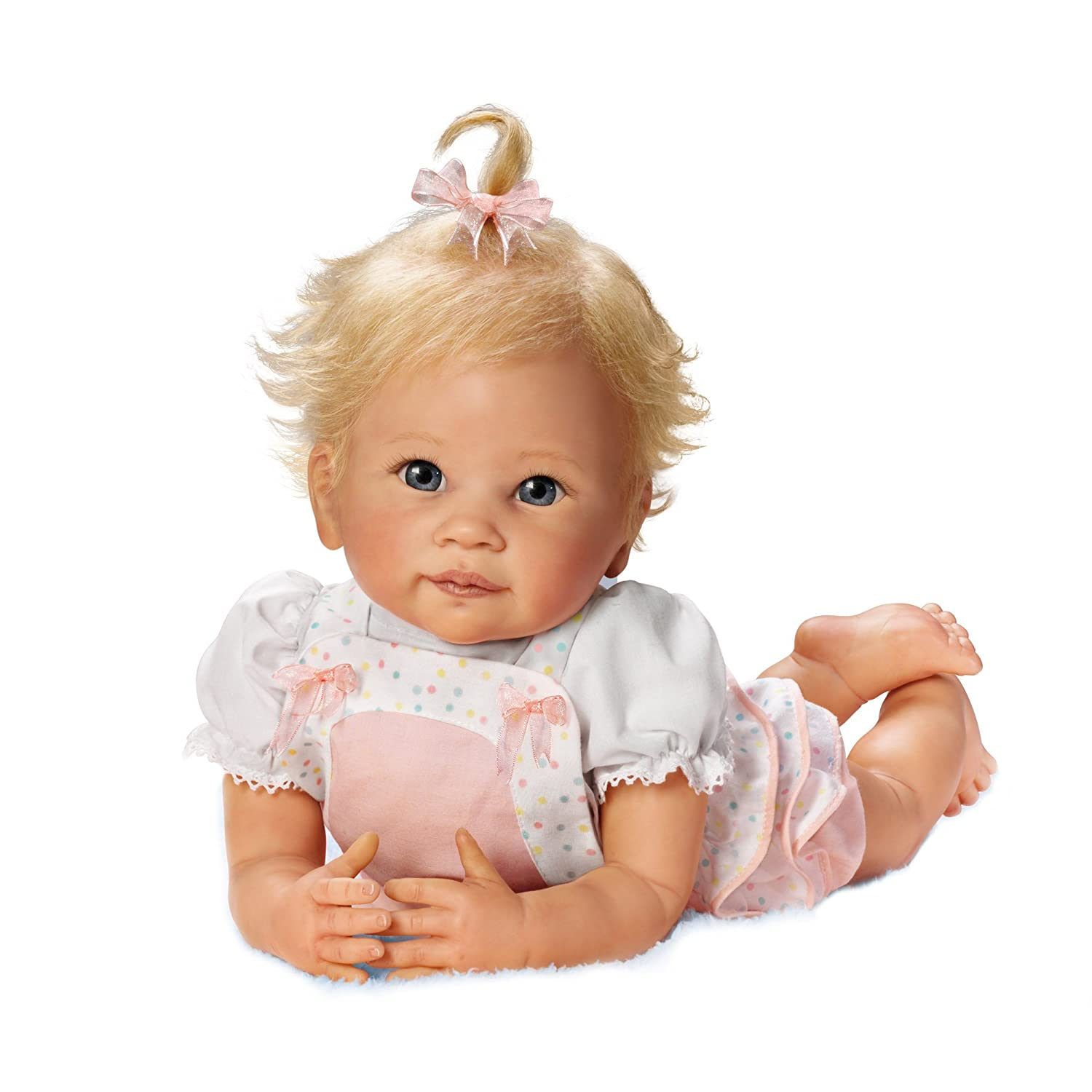 Ashton Drake 'Addie's Tummy Time' - Poseable Lifelike Baby Doll with Drawstring by Linda Murray - RealTouch Vinyl Skin The Ashton-Drake Galleries