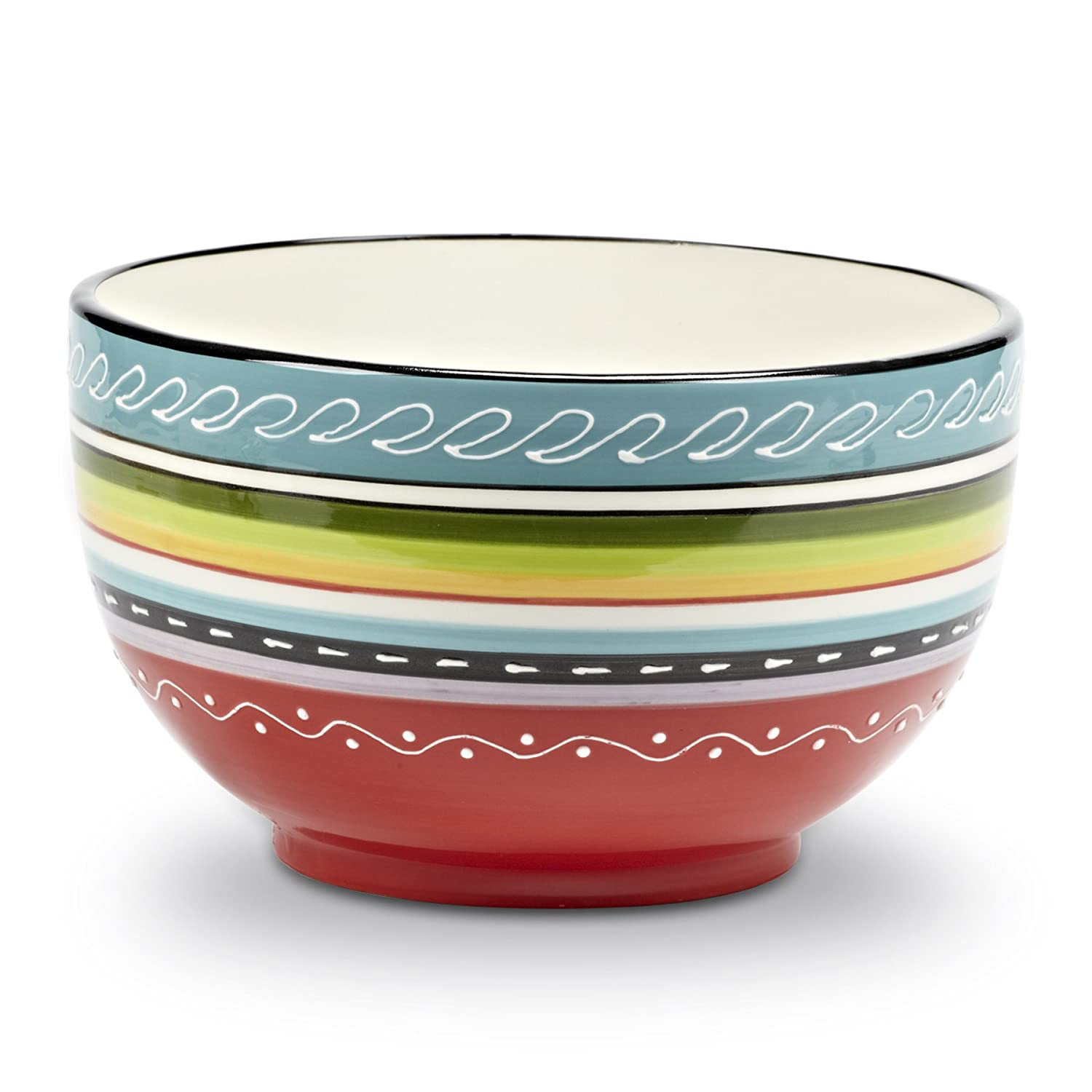 Abbott Collection Home Colourful Deep Bowl-9-Inch Hongsheung Group 27-SANTA FE/5504