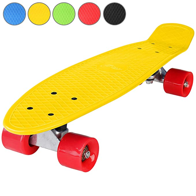 Physionics - Monopatín retro - Skateboard - 5 colores a elegir