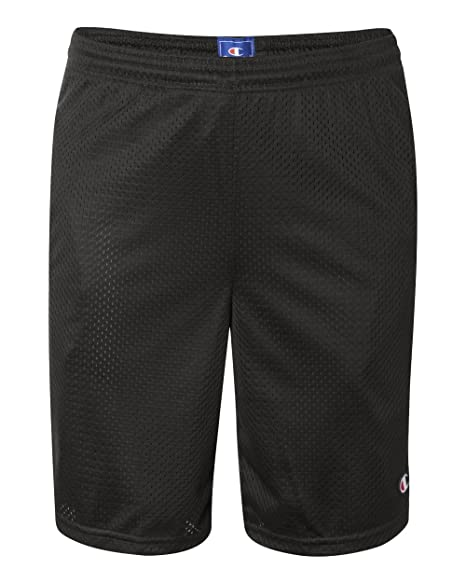 c402a2a5dd24 Image Unavailable. Image not available for. Color  Champion Mens Long Mesh  Shorts with Pockets Black