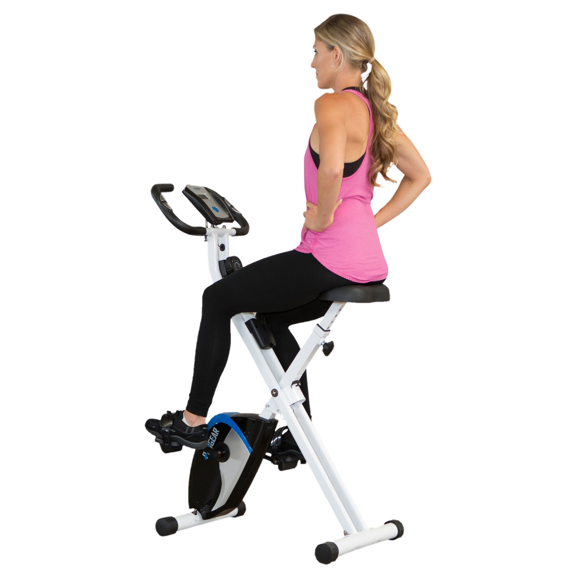 ProGear 225 Folding Magnetic Upright Exercise Bike with Heart Pulse by ProGear (Image #1)