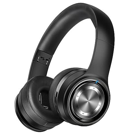 d9b19c7b3e7 Picun P26 Bluetooth Headphones Over Ear Headset 40H Playtime Hi-Fi Stereo  Wireless Headphones with