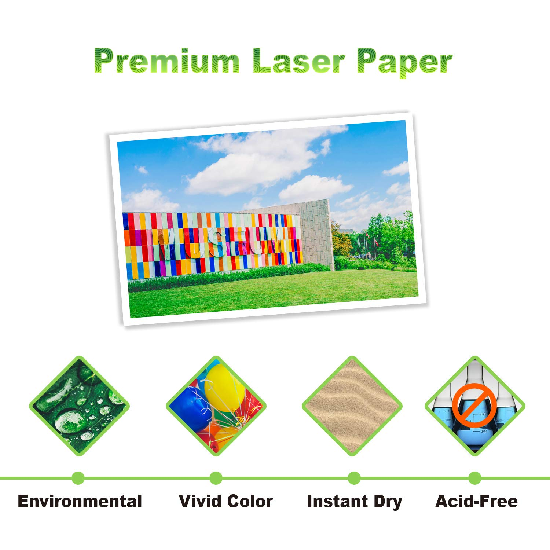297x420mm A3 100 fogli 200 g//m/² KOALA Carta fotografica laser opaca fronte//retro