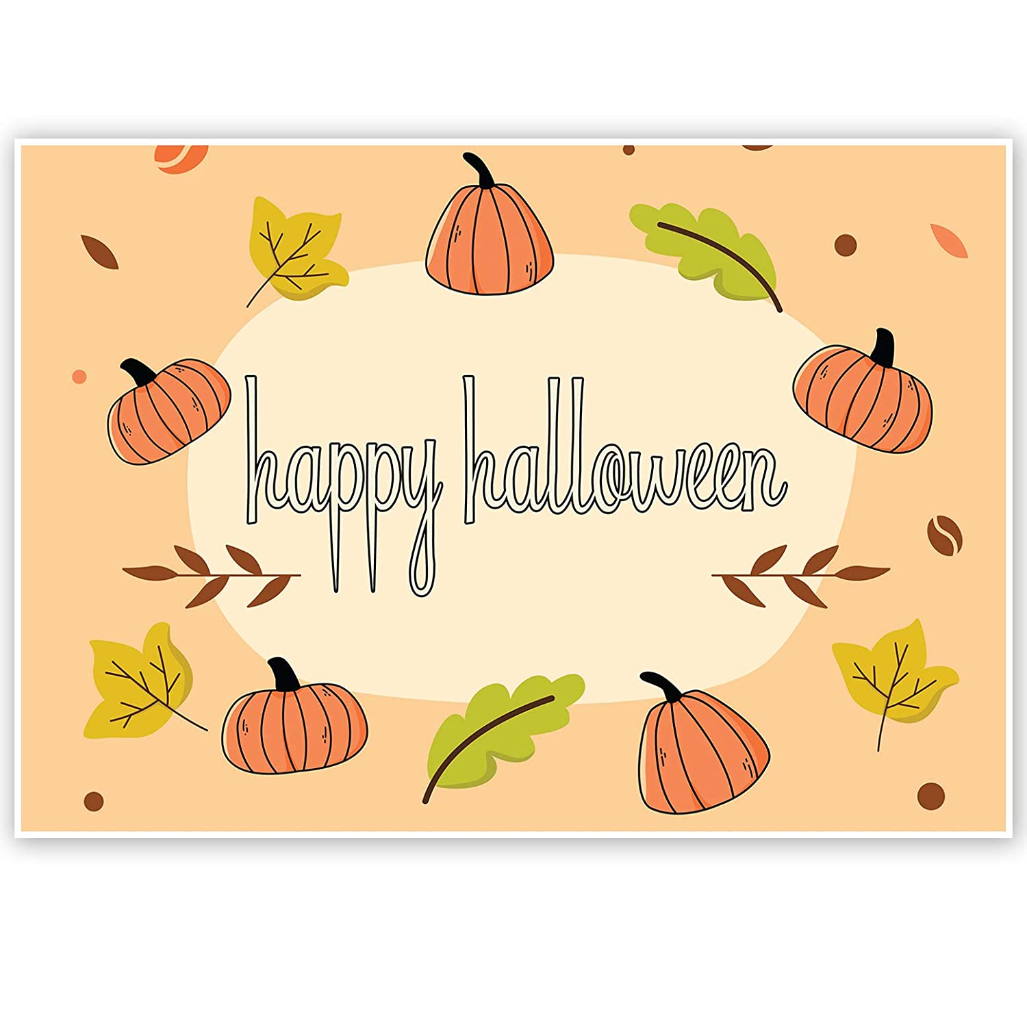 Fall Pattern Happy Halloween Banner