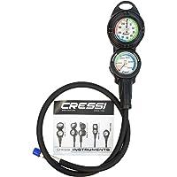 Cressi Consola PD2 – Medidor de presión y Profundidad de Buceo con Manguera: Fabricado en Italia