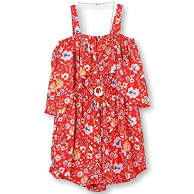 8f6027bea18 Amazon.com  Speechless Girls  Big Shoulder Romper  Clothing