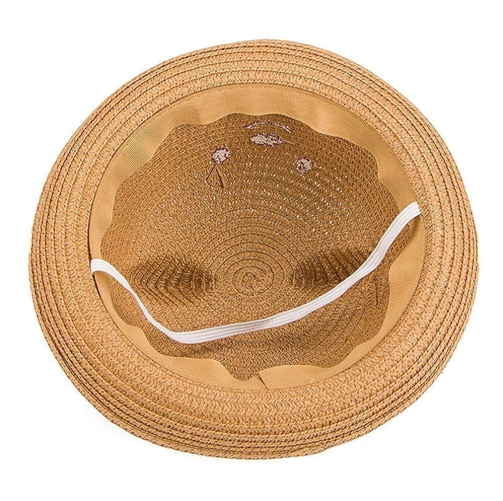 Leisial Ni/ños Beb/é Sombrero de Paja Playa Sombrero de Osoito Gorro de Sol de Ocio al Deporte Aire Libre Verano para Unisex Ni/ños