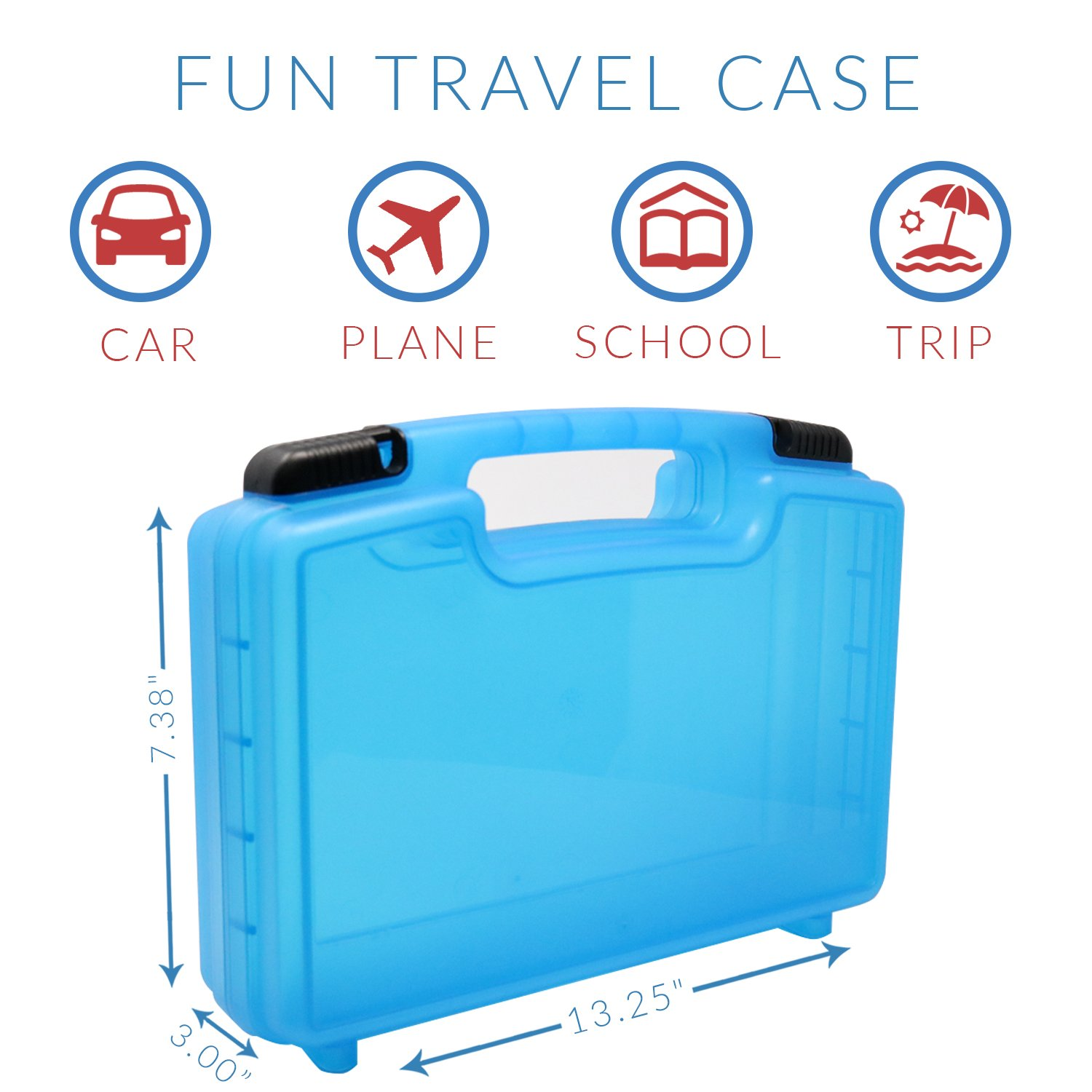 Figurines and Accessories Organizer and Carrying Case Life Made Better Daniel Tiger Case Blue